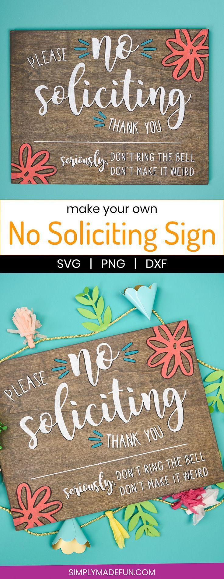 Diy No Soliciting Sign No Soliciting Signs Stencil Vinyl Things To Sell