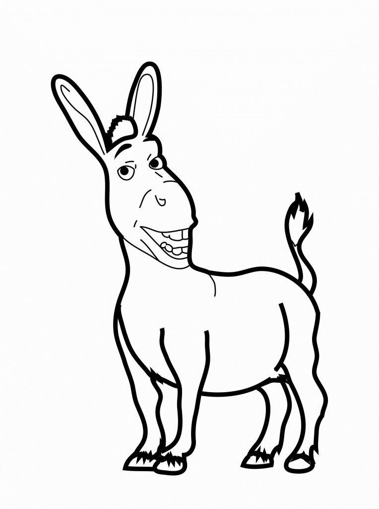 Free Printable Donkey Coloring Pages For Kids Animal Coloring Pages Monster Truck Coloring Pages Cupcake Coloring Pages