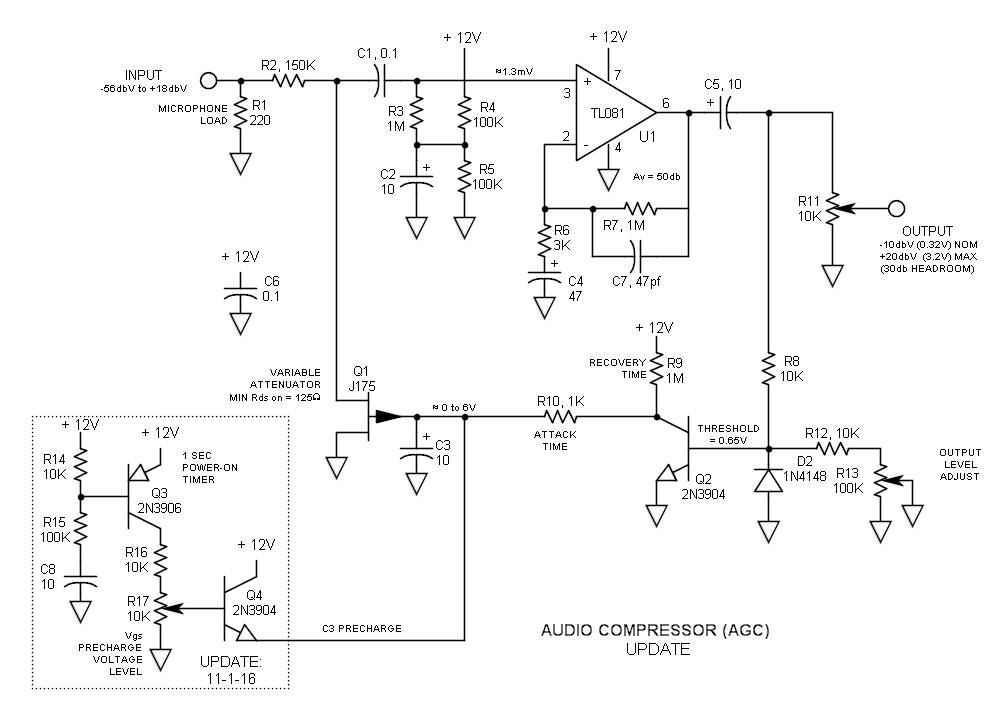 update audio compressor agc schematic 2 in 2019. Black Bedroom Furniture Sets. Home Design Ideas