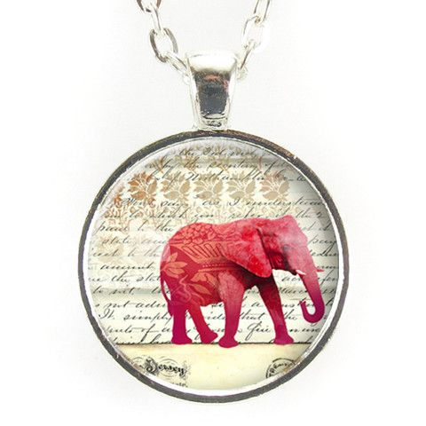 Red Elephant Necklace – CellsDividing