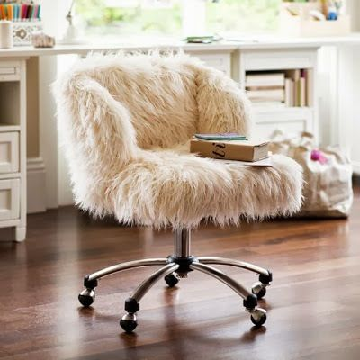 White Furry Chair
