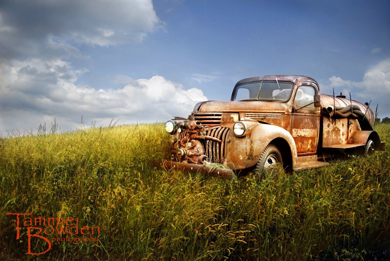 Old Fire Truck - Original Photograph - Antique Firetruck Rusted ...