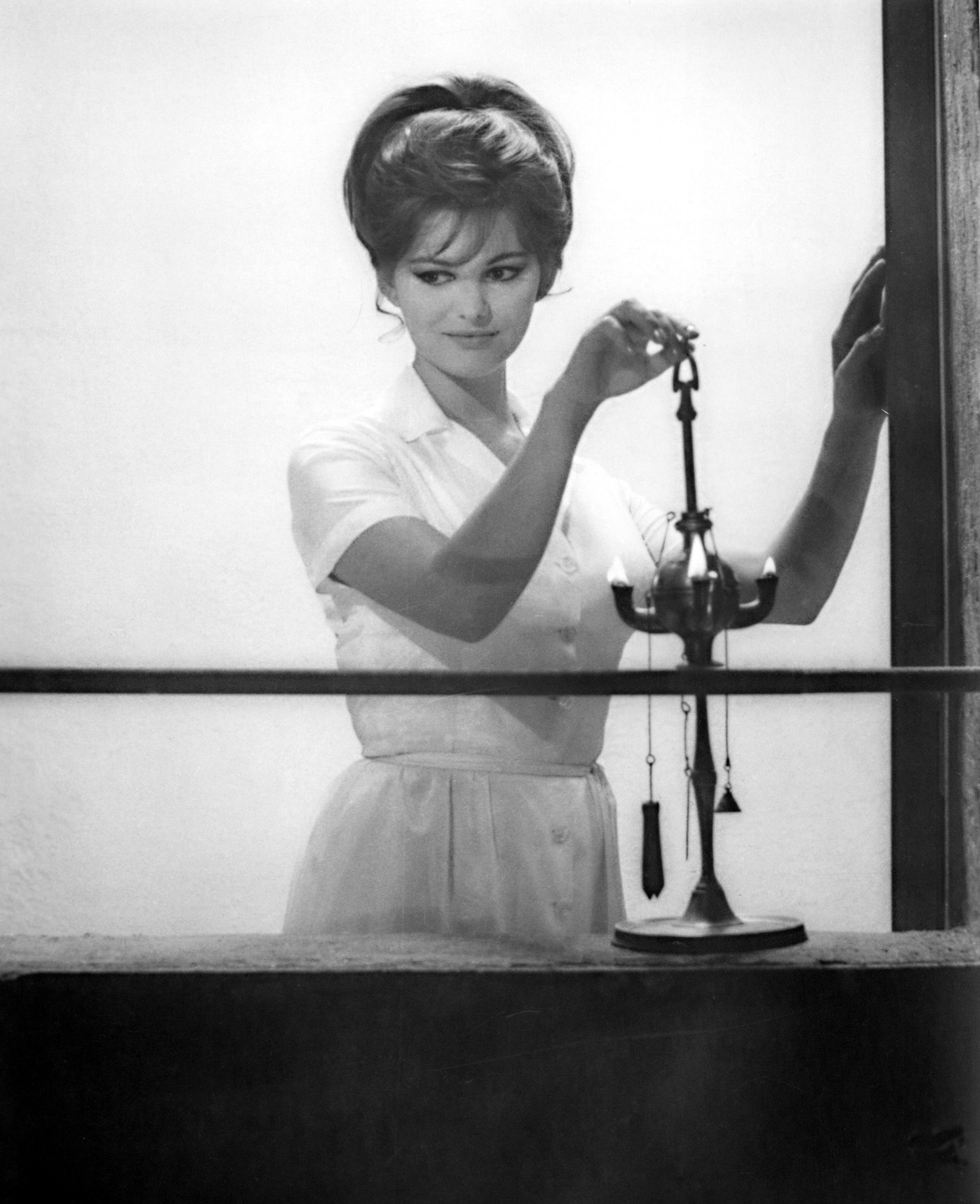 Claudia Cardinale (née Claude Cardin) in Fellini's 8-1/2 ...