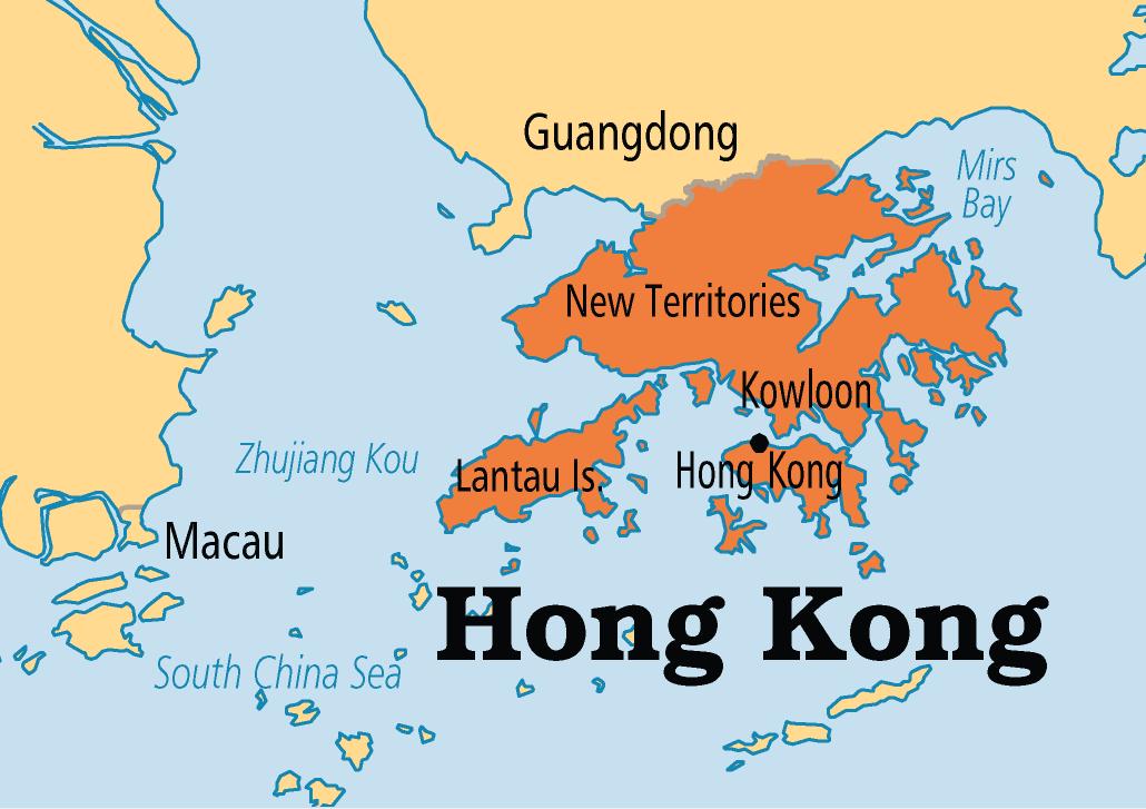 A Map Of China Hong Kong Class World Maps