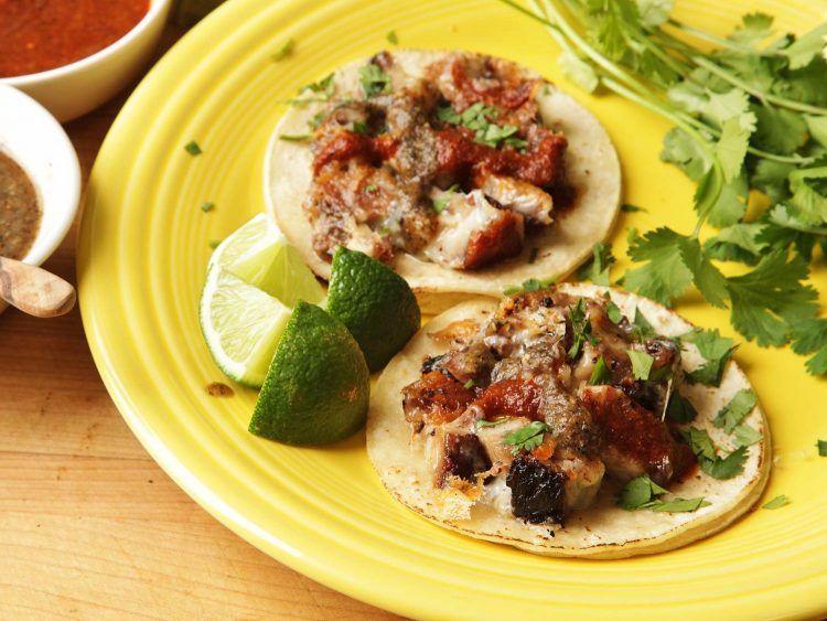 Yucatecan Pork Belly And Cheese Tacos Tacos De Castacán Con Queso