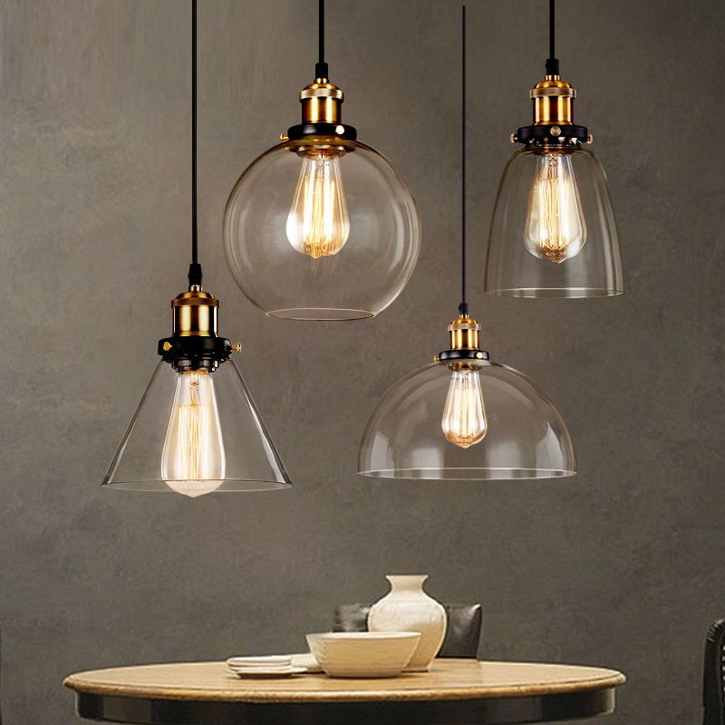 Glass Industrial Pendant Lights Price: 54.00 & FREE
