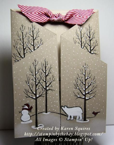 White Christmas Standup Card by kvsquires - Cards and Paper Crafts at Splitcoaststampers - #cards #christmas #crafts #kvsquires #paper #standup #white -  White Christmas Standup Card by kvsquires – Cards and Paper Crafts at Splitcoaststampers   Stempeln Here's a card I made using the White Christmas Stamp Set. stampinbythebay.b…