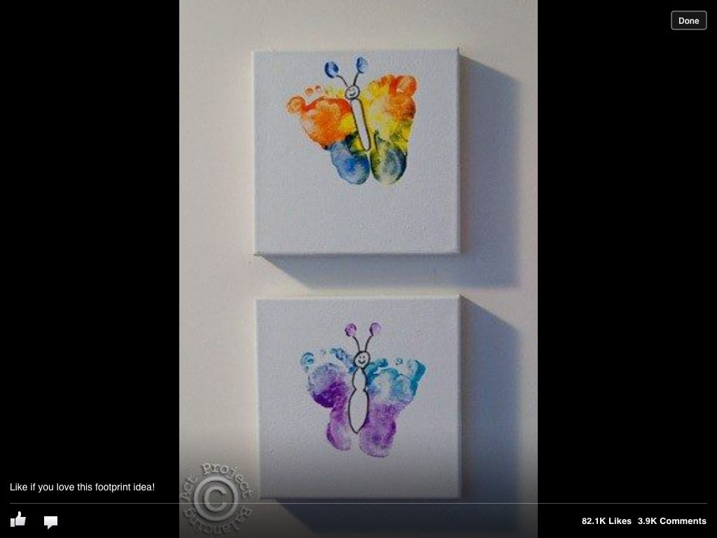 Footprint butterflies this would be a great spring craft for the this would be a great spring craft for the babies and the toddlers negle Image collections
