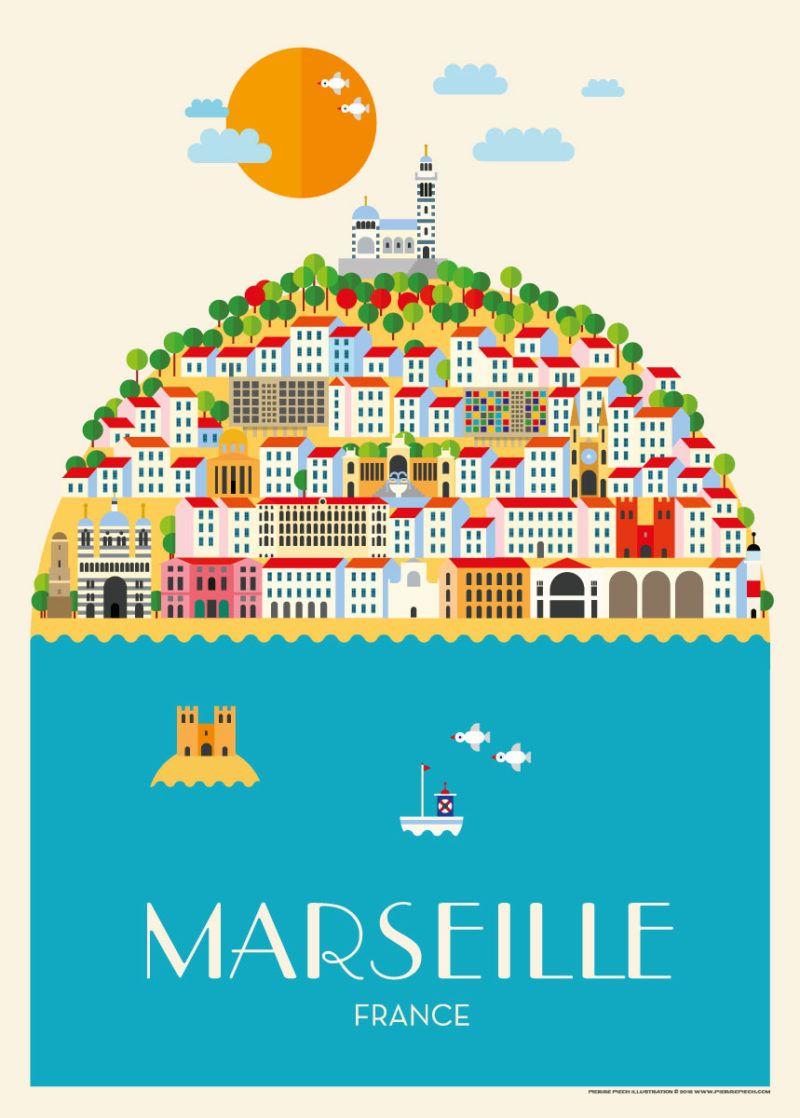 Marseille V 1 En 2020 Affiche De Voyage Vintage Affiches De Voyage Retro Affiches De Voyage