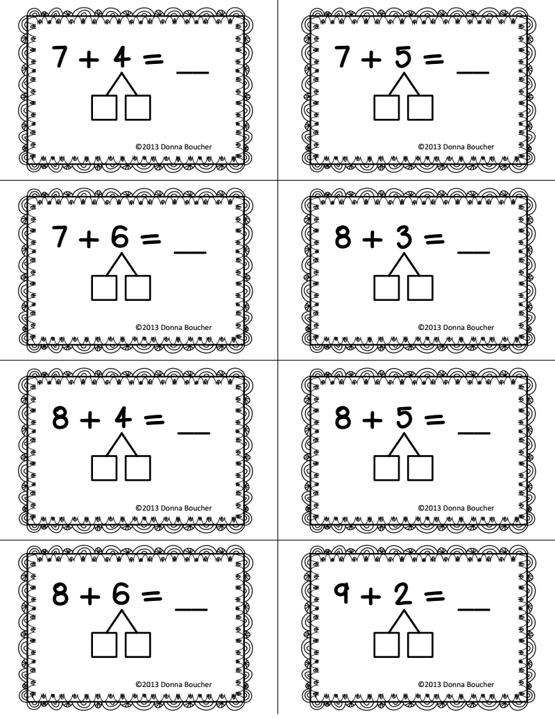 small resolution of Make a Ten Strategy for Addition.pdf   Second grade math
