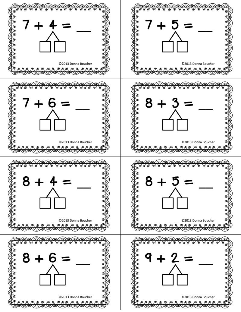Make a Ten Strategy for Addition.pdf   Second grade math [ 1035 x 800 Pixel ]