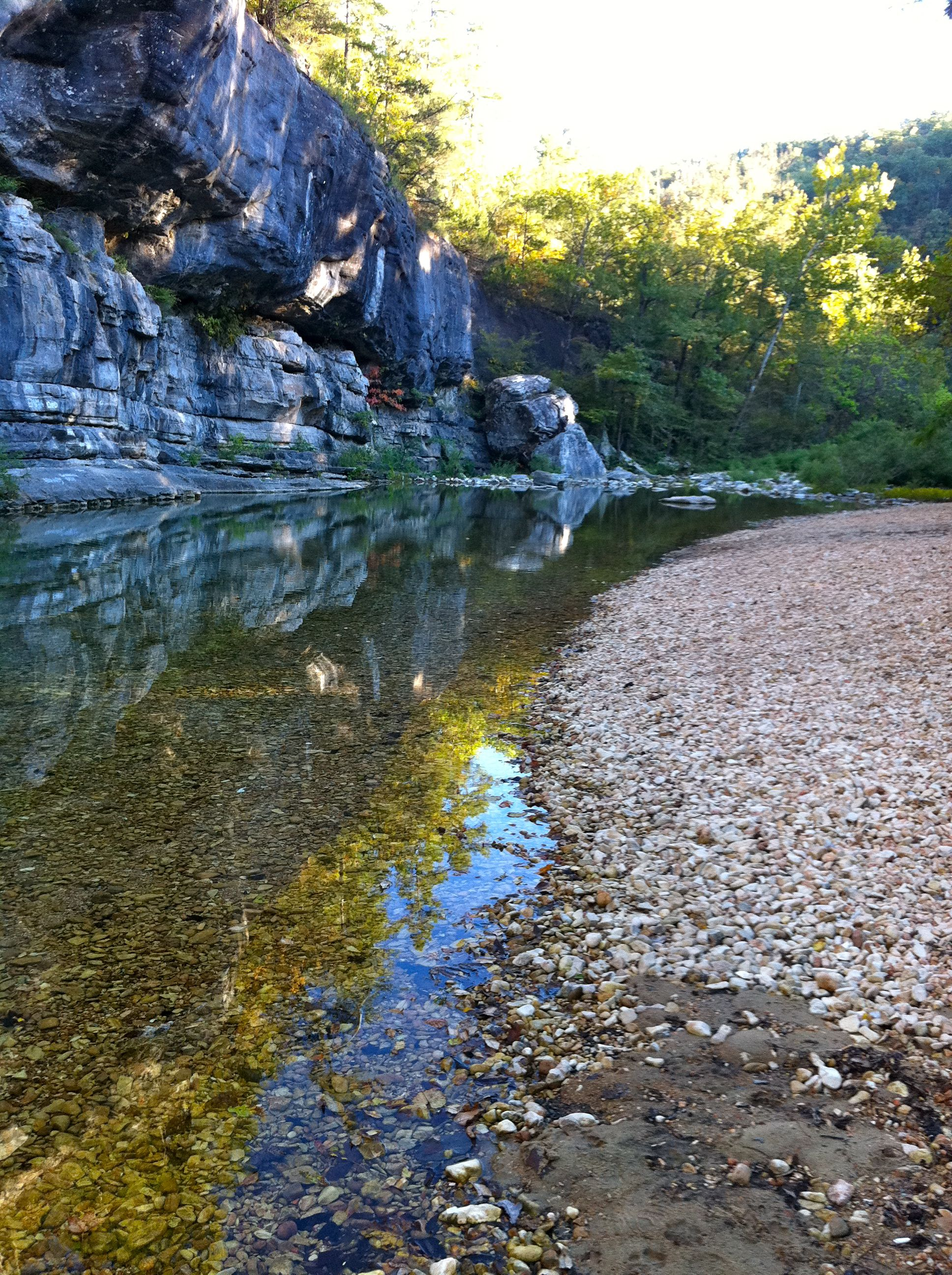 Sylamore creek at gunner pool national forest campground - Camping near me with swimming pool ...