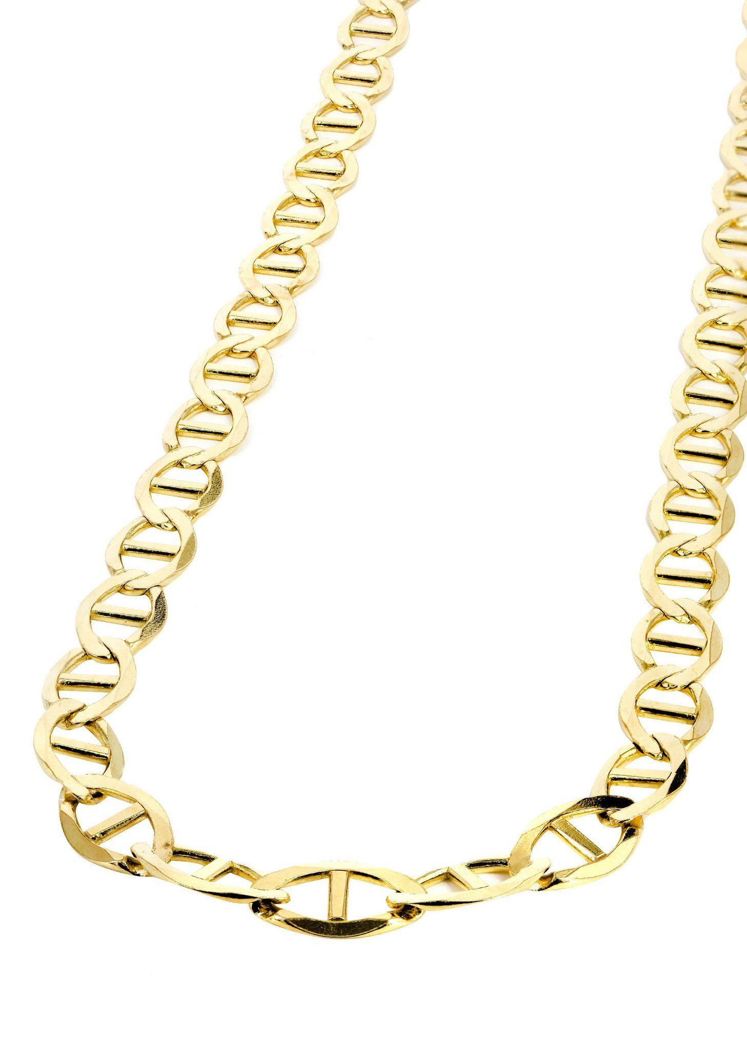 Gold Chain Mens Solid Mariner Chain 10k Gold Real Gold Chains Gold Chains For Men 10k Gold Chain