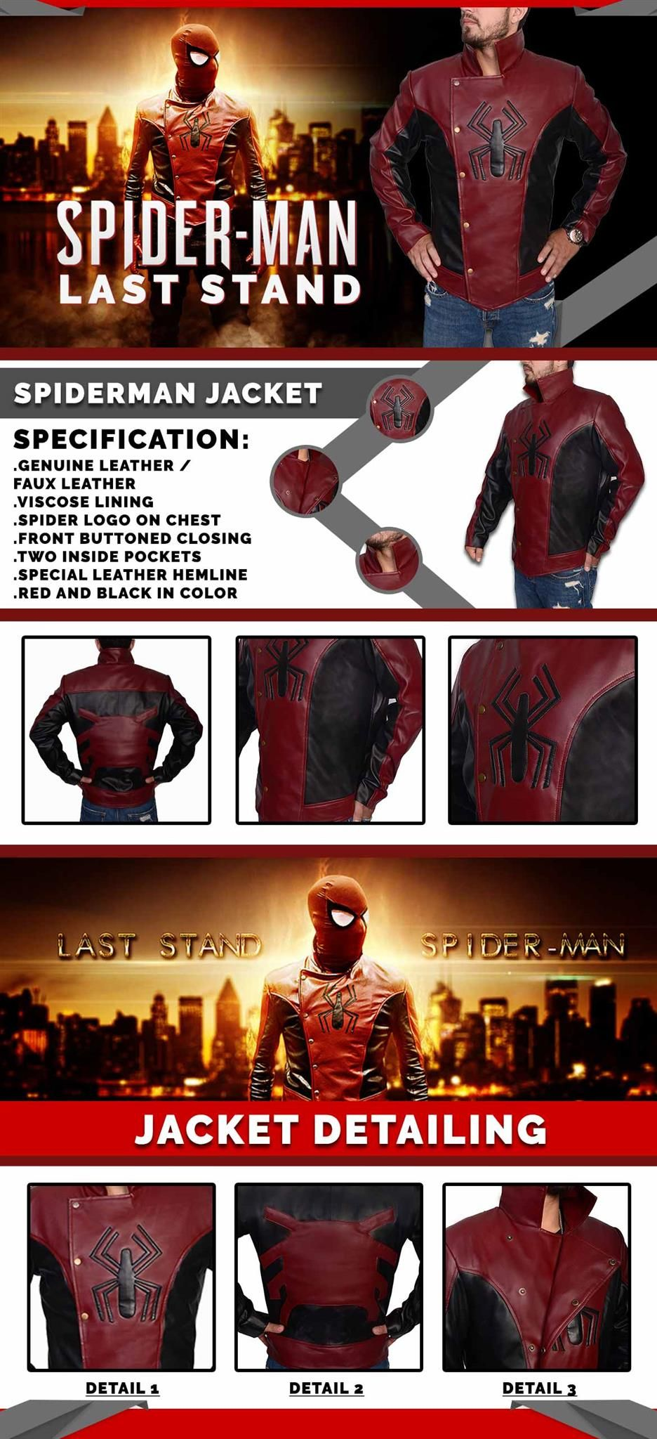 The Last Stand Spider Man Jacket Marvel jacket