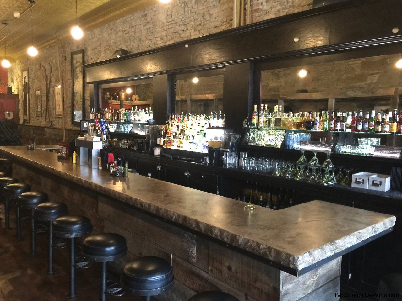 Commercial bar top design commercial bars man caves Bar top ideas