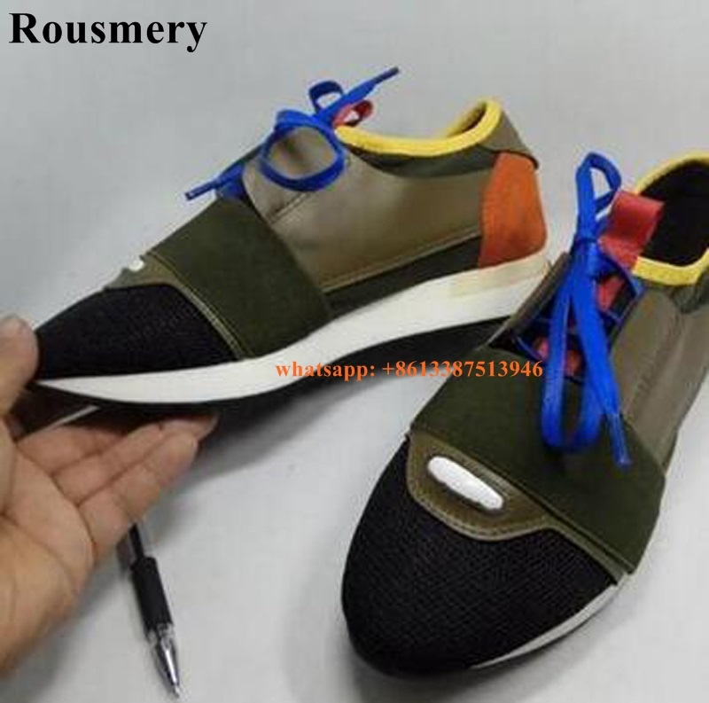 (59.03$)  Watch here - http://aikwv.worlditems.win/all/product.php?id=32798429245 - Rousmery 2017 Top Design Patchwork Men Casual Shoes Size 36-46 Lover Fashion Walking Shoes Flat Mesh Leisure Shoes Platform Shoe