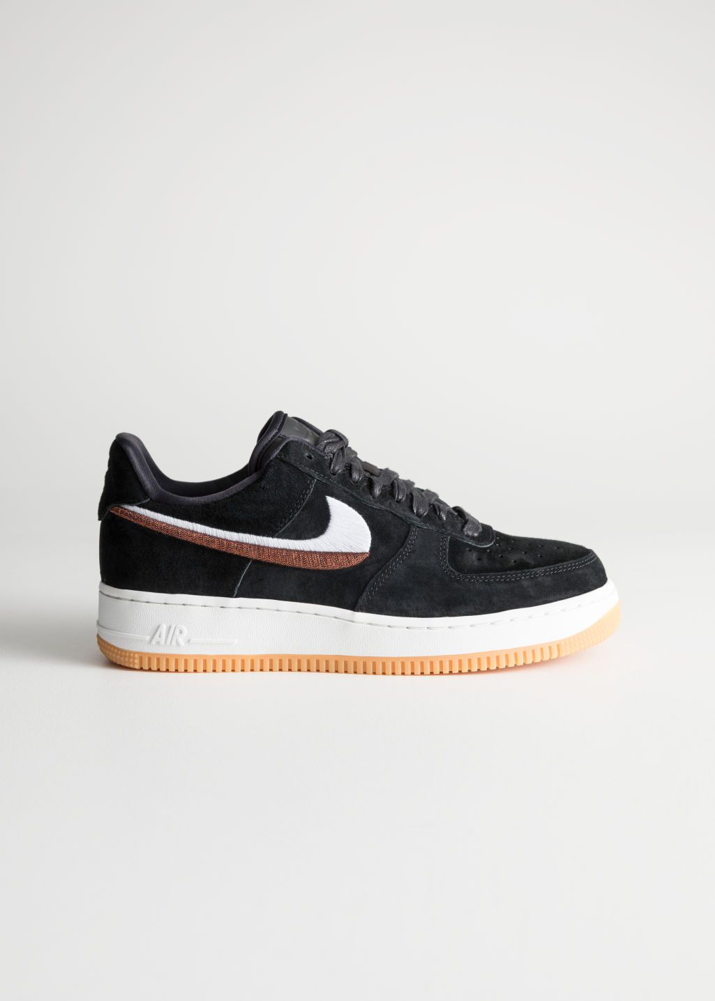 e720cb20dab Front image of Stories nike air force 1 07 lx in black