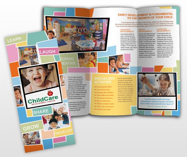 8 Best Images Of Education Brochure Templates Template Sample And Preschool