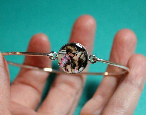 Personalized Photo Bangle Bracelet #mothersdaygift