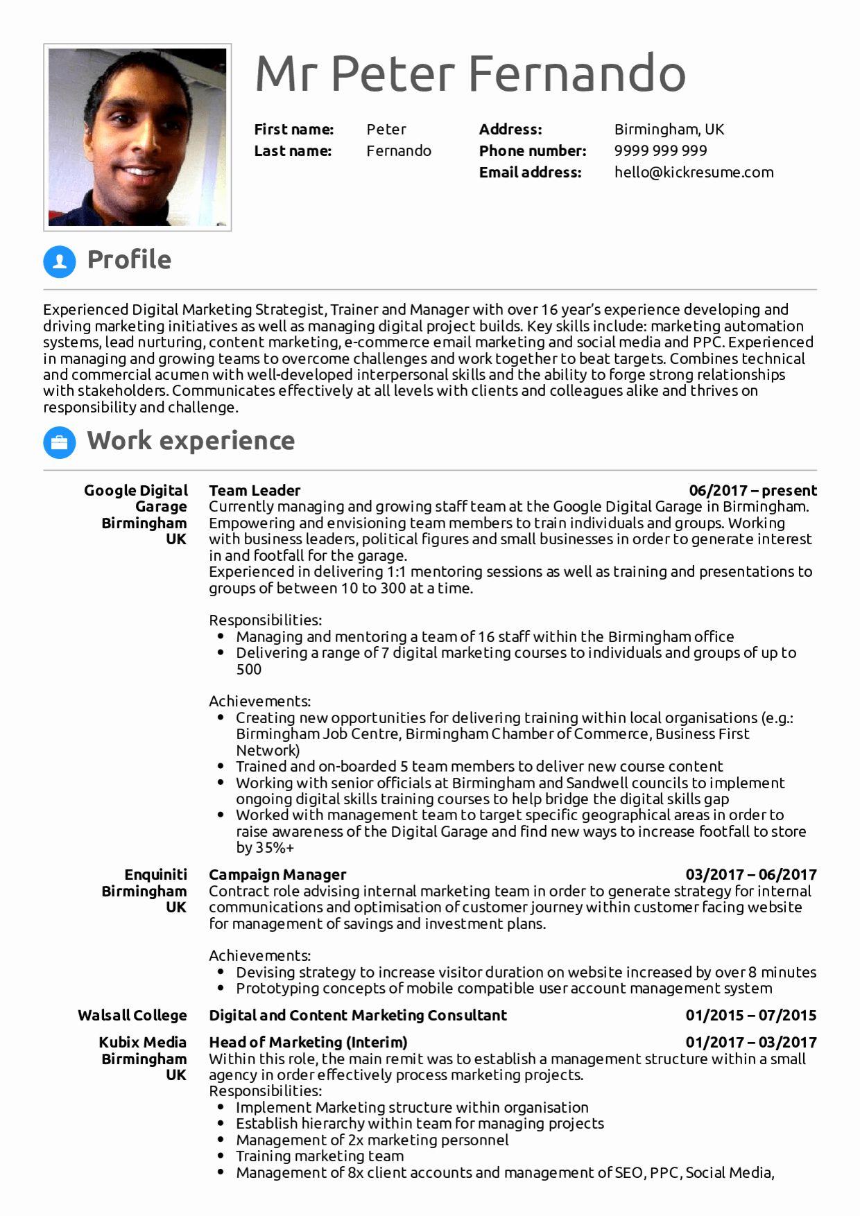 LinkedIn URL On Resume Example. Vice President Sales