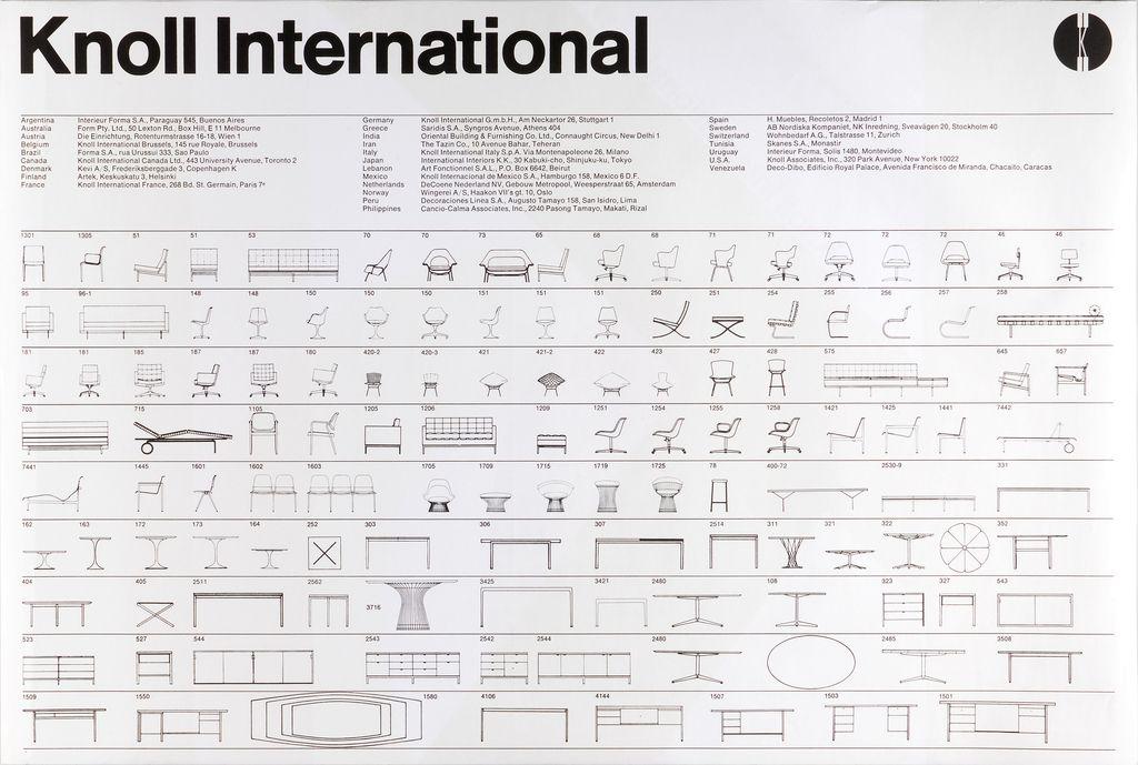Poster Knoll International 1967 Knoll Woven Paper Vignelli