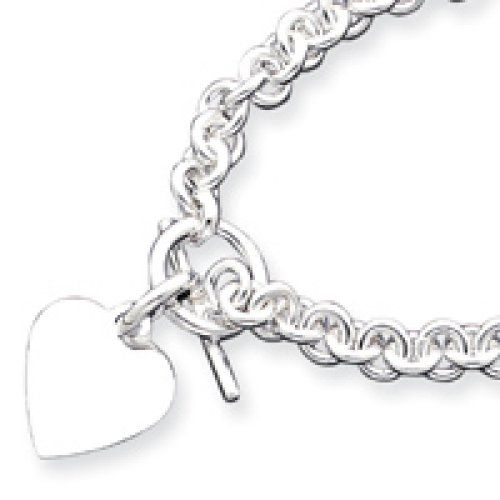 0a9ca5f04 Sterling Silver Heart Disc Fancy Toggle Necklace 18 Inch ** Check out this  great product.(This is an Amazon affiliate link)
