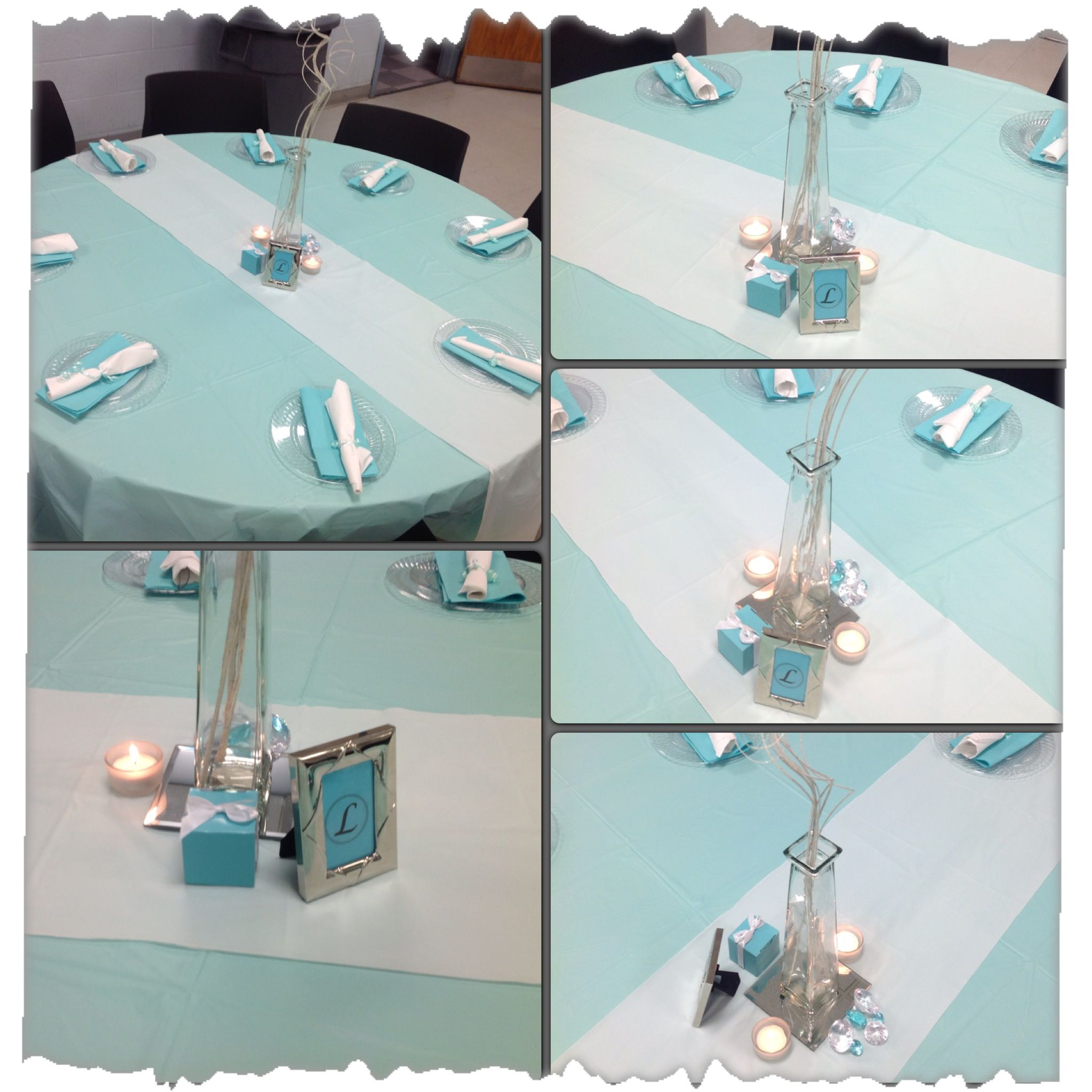 Party planning...Graduation Party..Tiffany Blue..table Set up ...