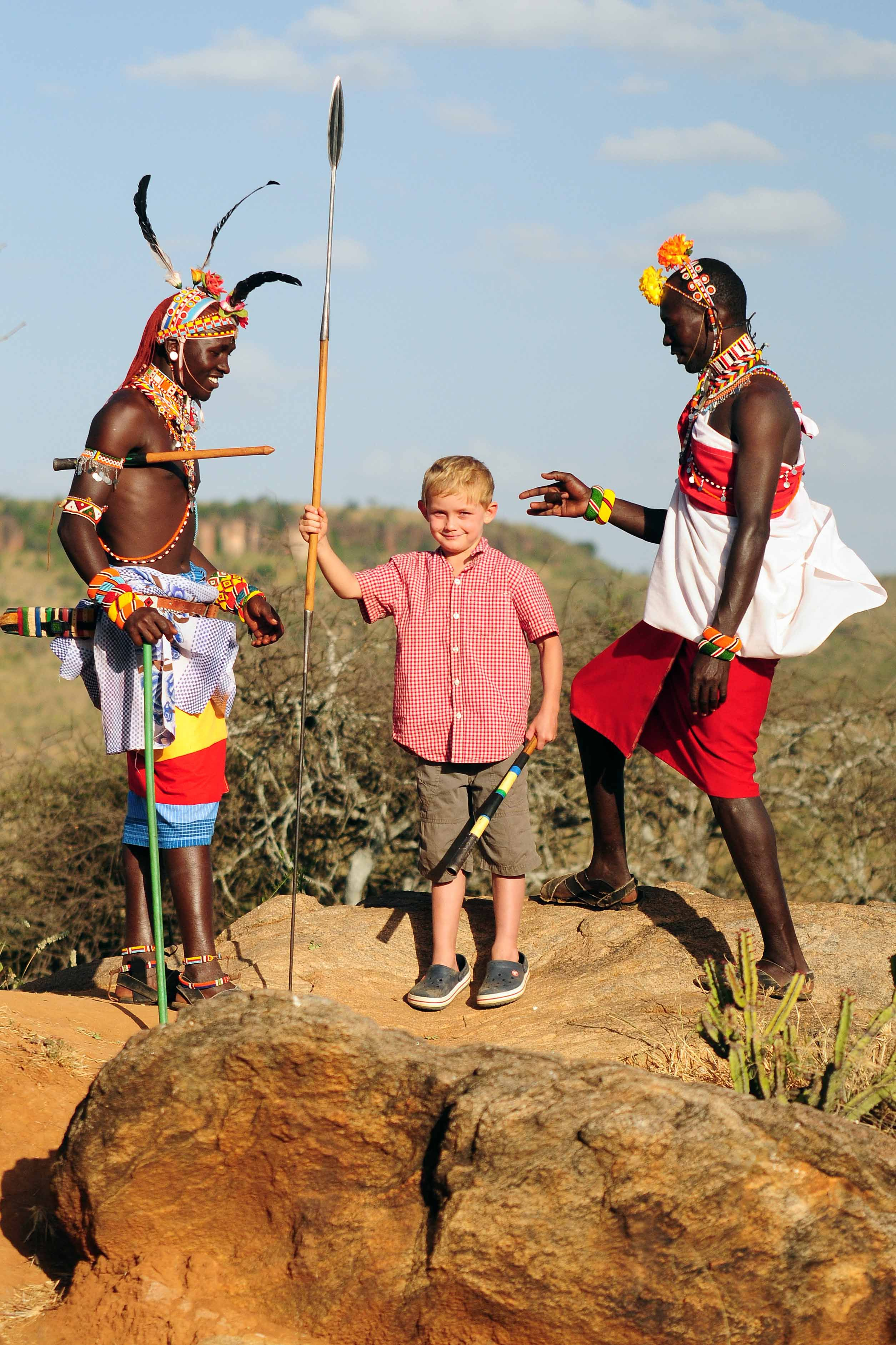Learning to throw a spear with Laikipiak Maasai  Another