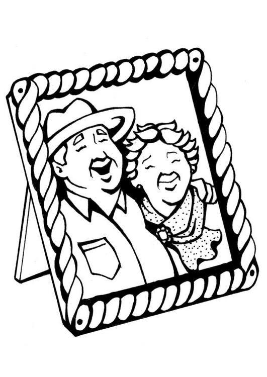 Pinto Dibujos: Marco con fotografía de mis abuelos para colorear ...