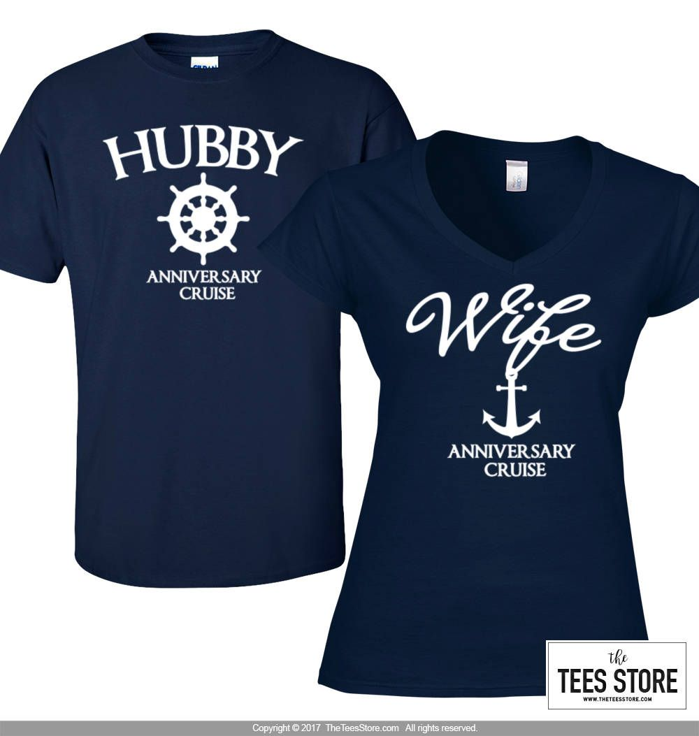 Wedding T Shirt Ideas: Mr. And Mrs. Cruise Shirts / Couple Shirt / His And Her