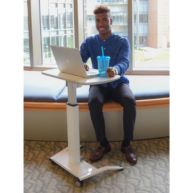Pneumatic Height Adjustable Desk Lectern All White Adjustable Height Desk Adjustable Lighting Lectern