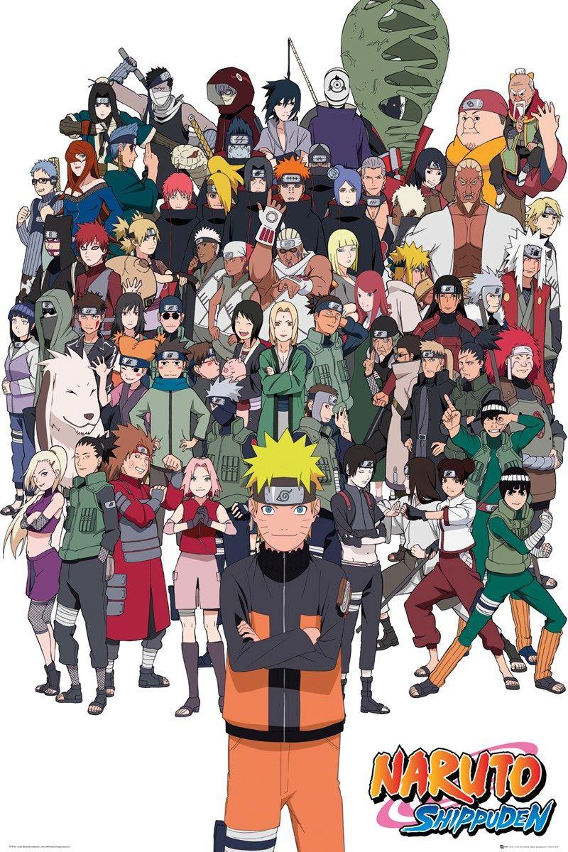 Naruto Shippuden Group Maxi Poster In 2020 Naruto Shippuden Characters Wallpaper Naruto Shippuden Naruto Shippuden Anime