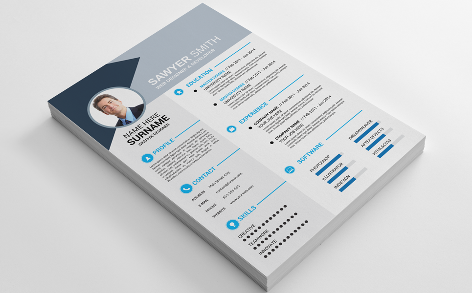 Sawyer Smith Resume Template 69251 Resume template free