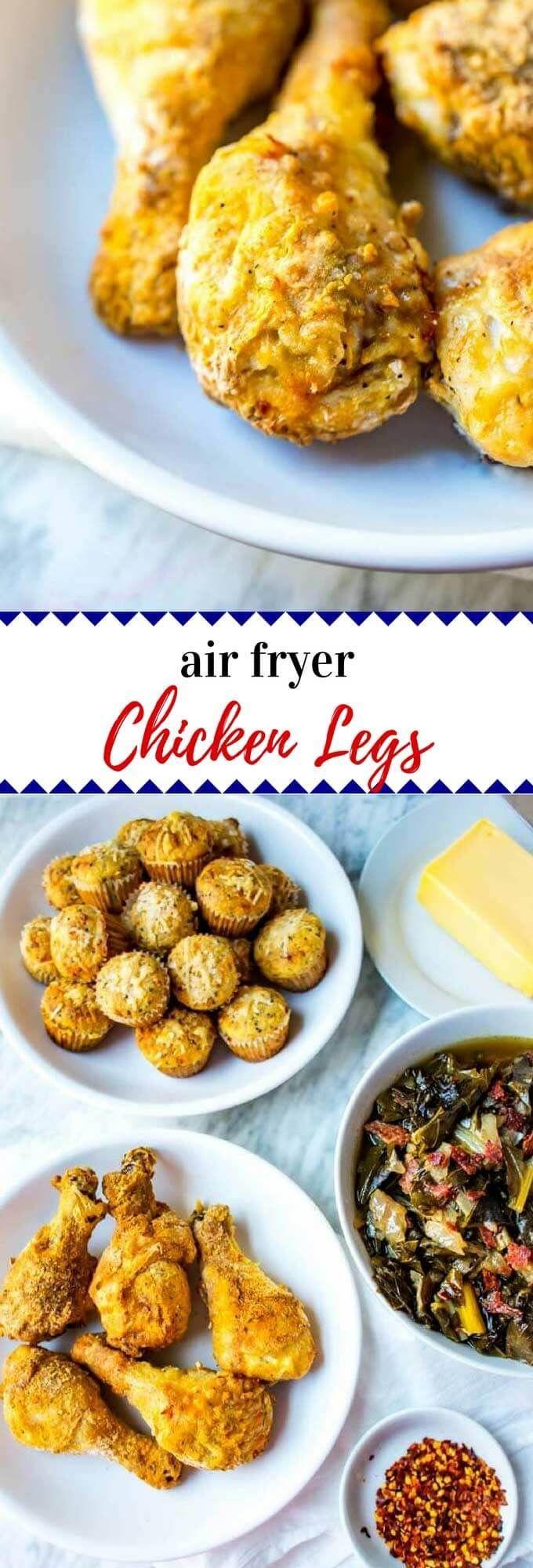 Air Fryer Fried Chicken Legs Recipe Fried chicken legs