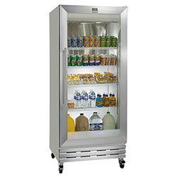 Kelvinator Commercial Kelvinator Kgm220rhy Reach In Refrigerator Glass Door 19 7 Cu Ft 32 W Glass Door Refrigerator Glass Door Fridge Glass Front Refrigerator