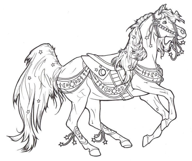 Carousel Horse Celestial By ReQuay.deviantart.com On