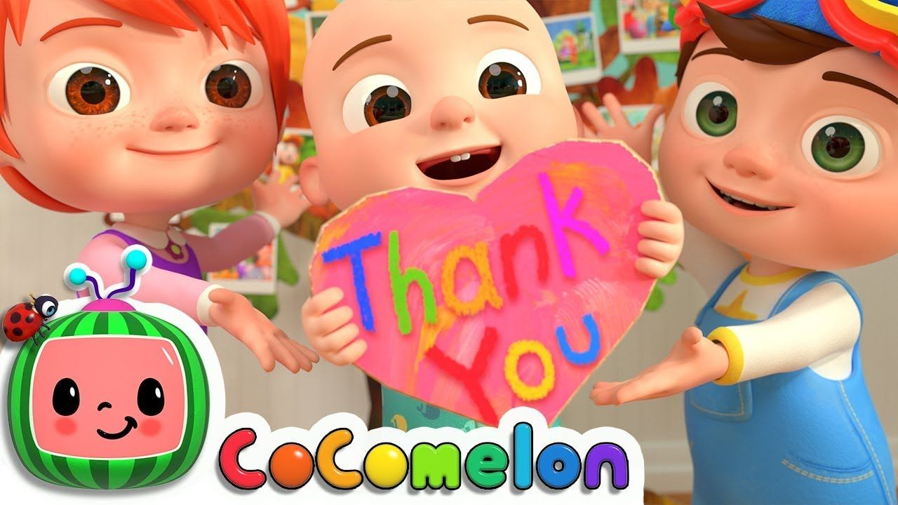 Thank You Song Cocomelon Nursery Rhymes Kids Songs Youtube In 2020 Kids Songs Thanksgiving Songs Nursery Rhymes