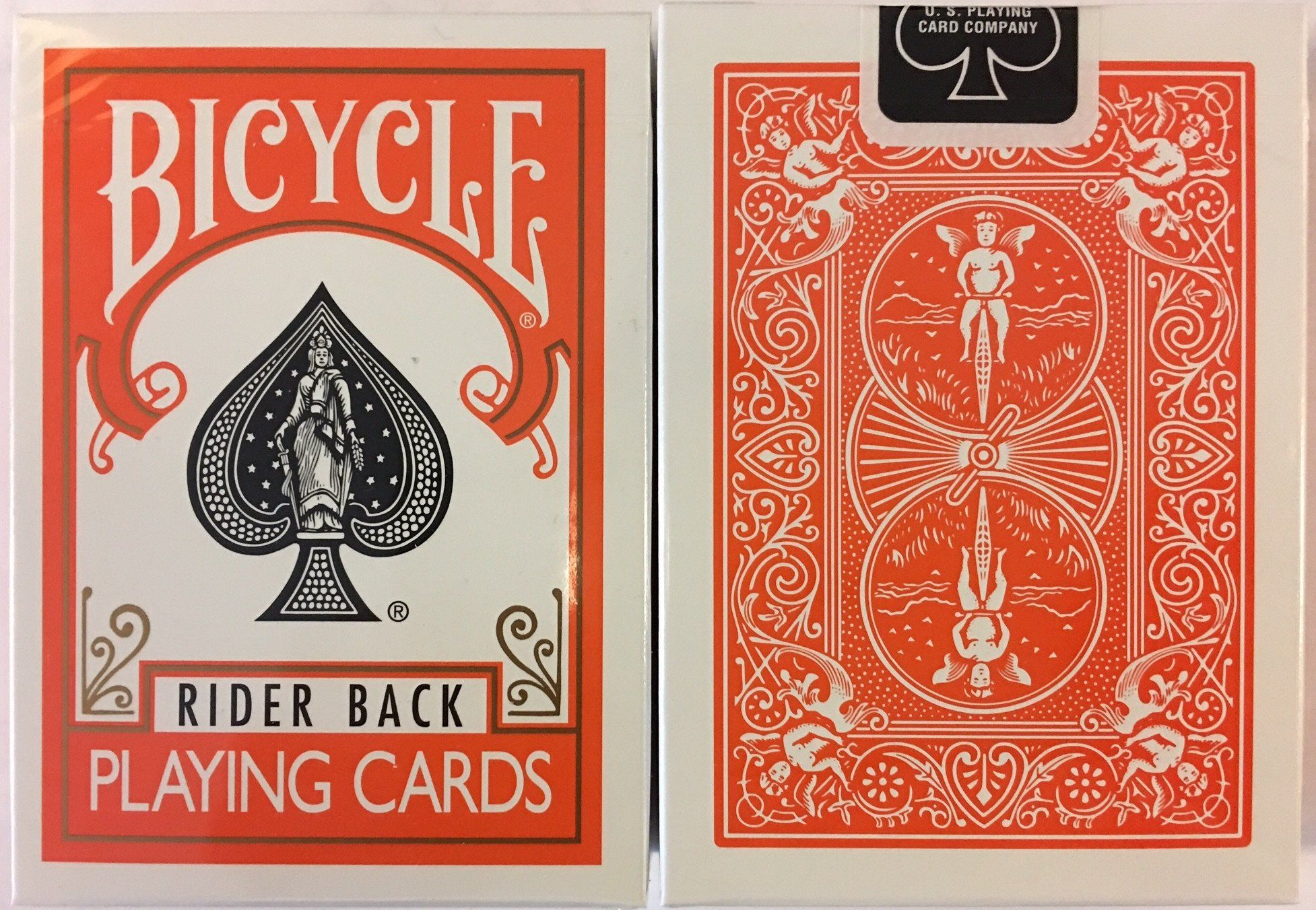 Orange Rider Back Bicycle Playing Cards | Products | Bicycle