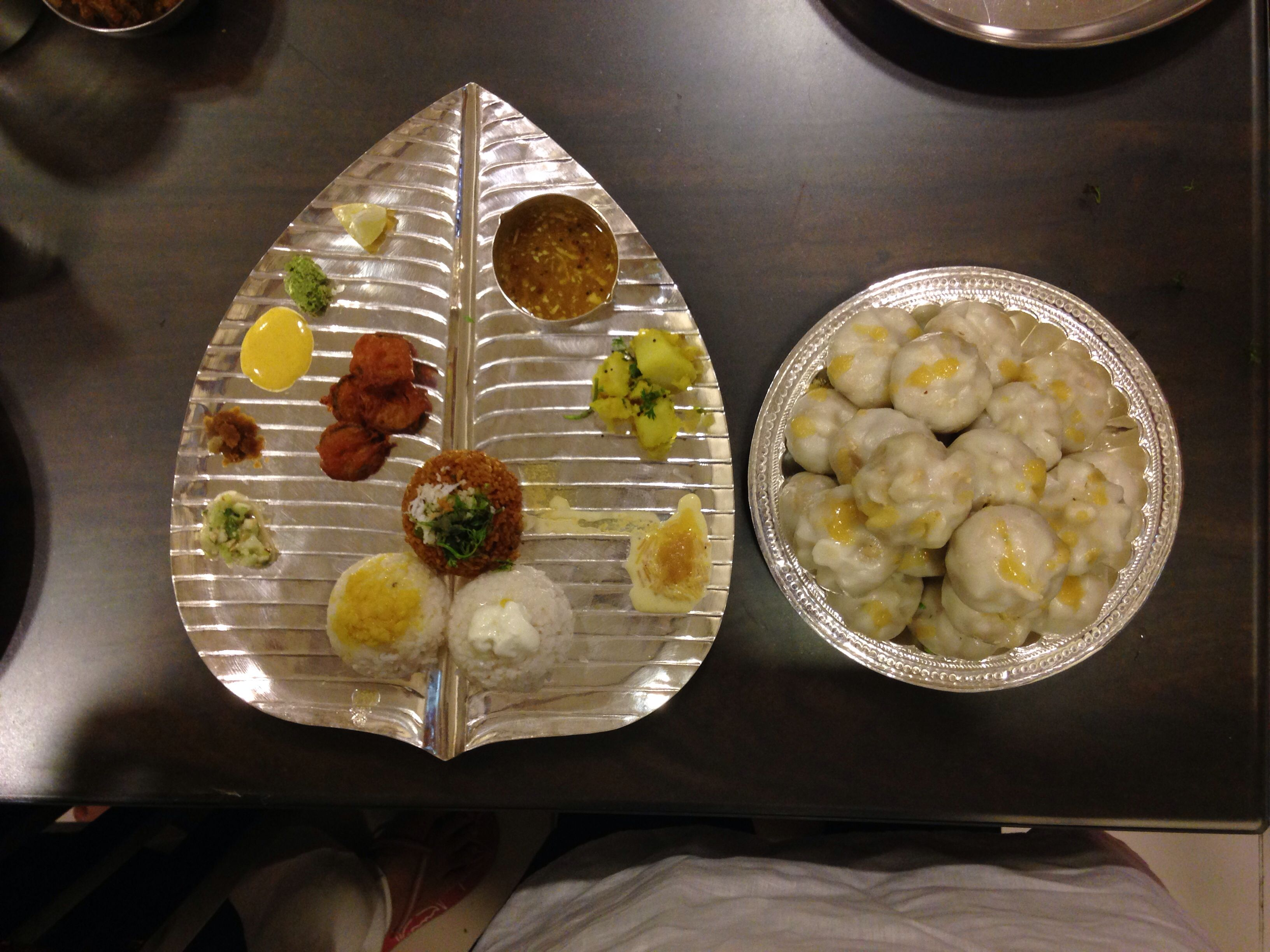 Traditional Maharashtrian Thali made during Ganesh ...