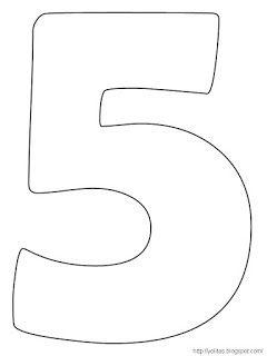 Los Numeros Para Colorear Y Recortar Letras Numero Para Colorear
