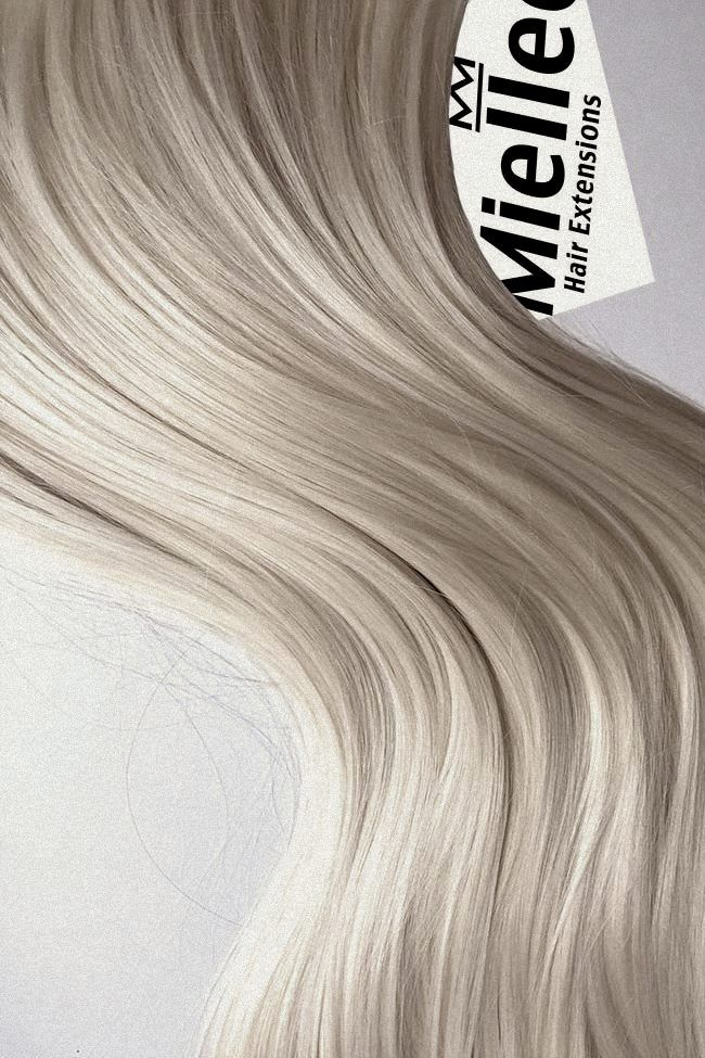 Cream Blonde Color Swatch Tape In Hair Extensions Hair