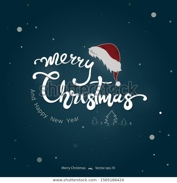 Merry Christmas Happy New Year Text เวกเตอร สต อก ปลอดค าล ขส ทธ 1565166424 ภาพประกอบ