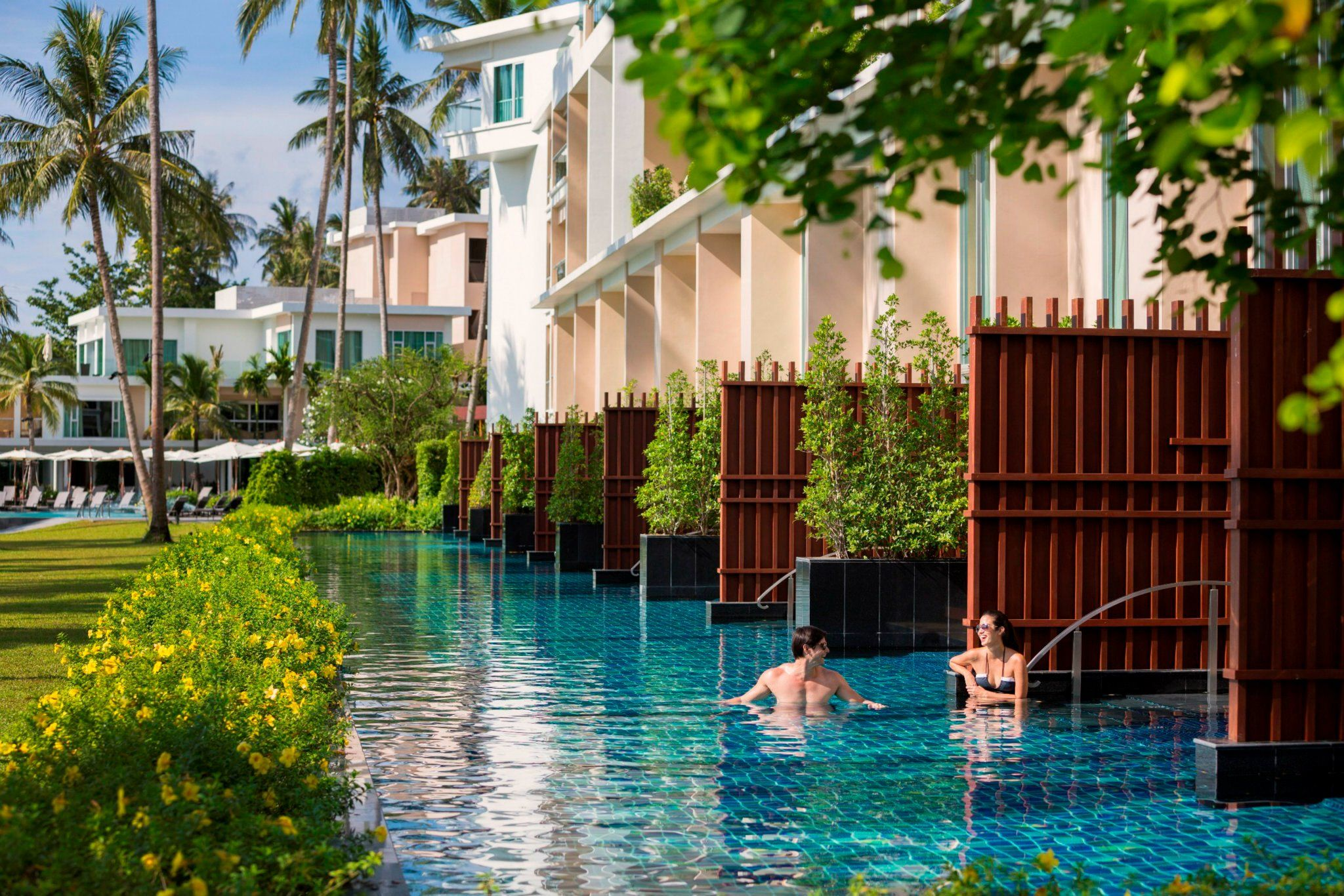 Private access pools at the Crowne Plaza