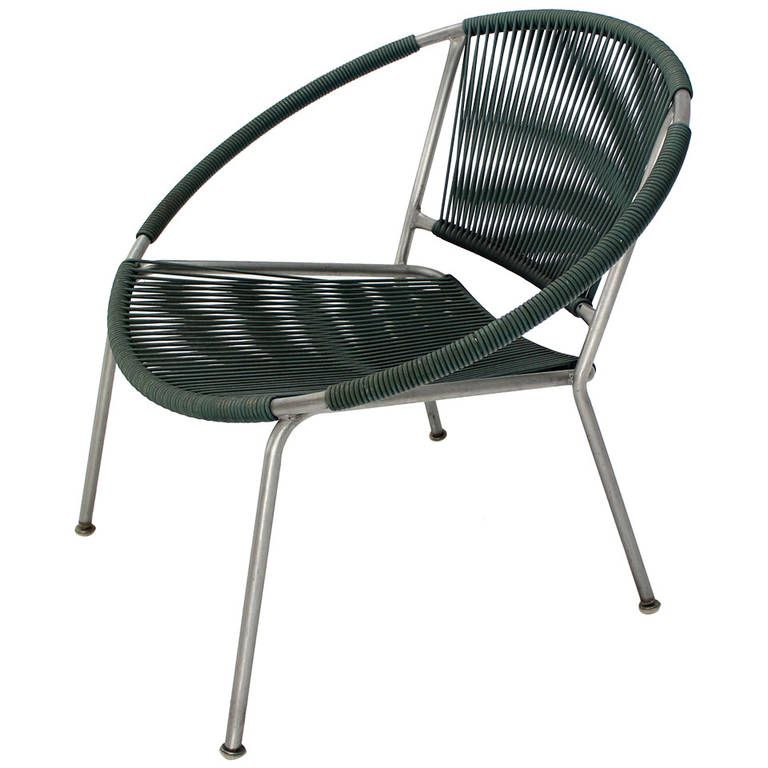Bent Tube 1960s Design Outdoor Chair By Joseph Cicchelli