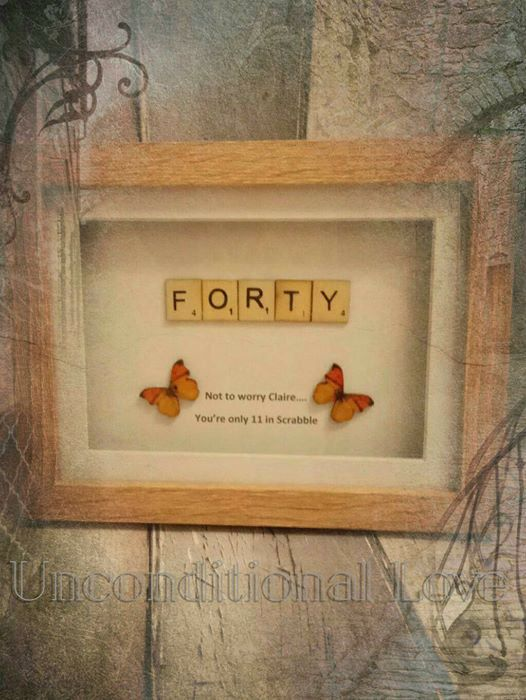 Special Age Frames - Forty by unconditional1283 on Etsy
