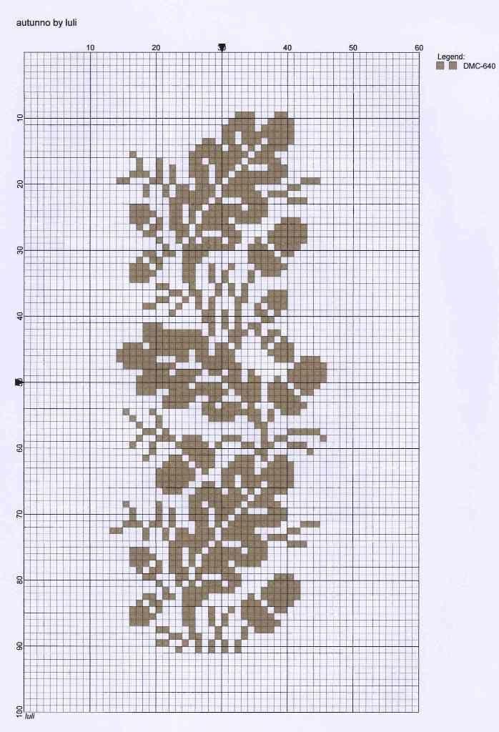 Bellotas otoño patrón de punto de cruz gratis | BordArte | Punto de ...