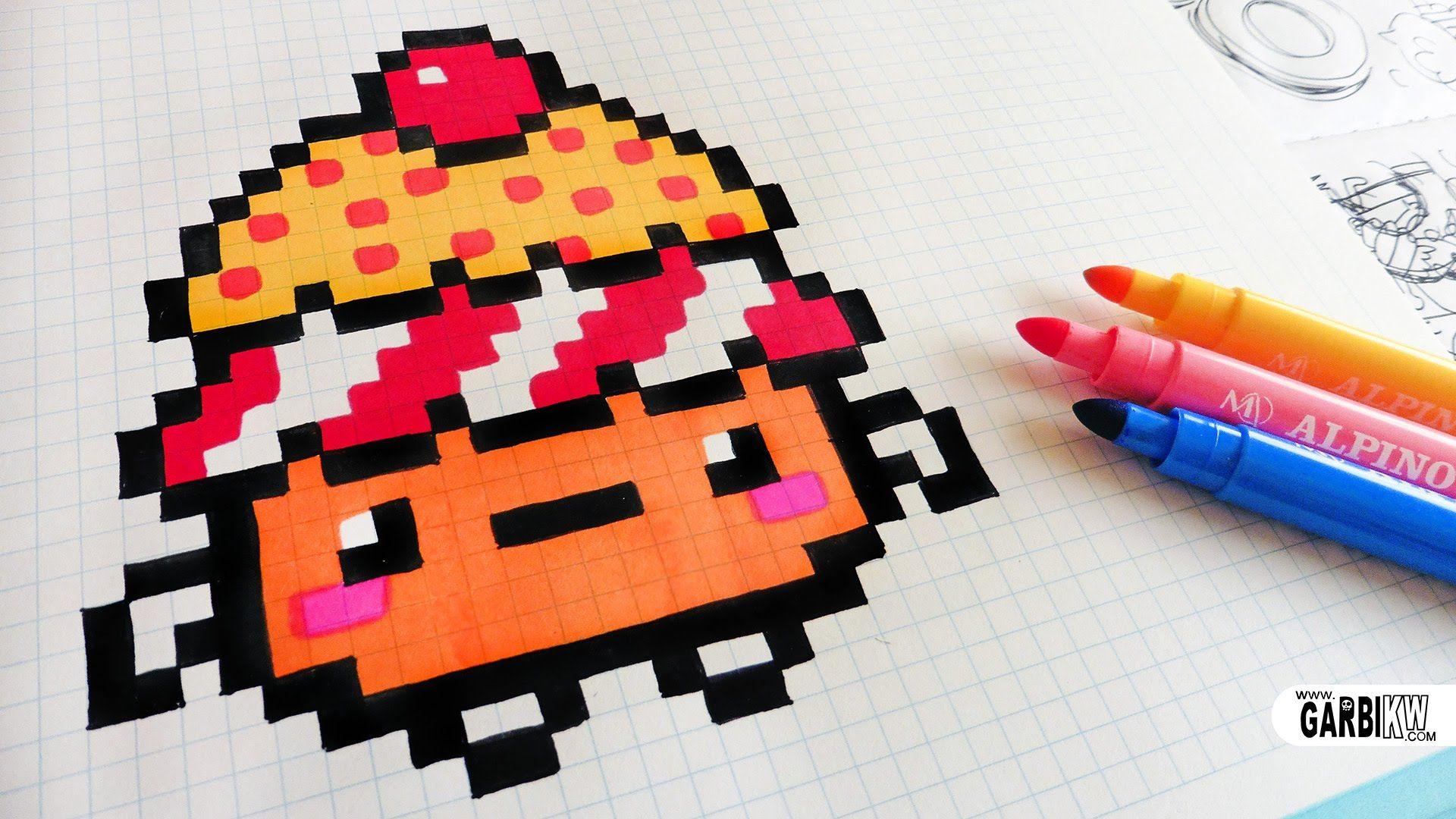 Handmade Pixel Art How To Draw Kawaii Cupcake Pixelart Pixel