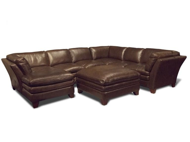 Bob Mills Furniture Leather Sectional Living Room Sectional