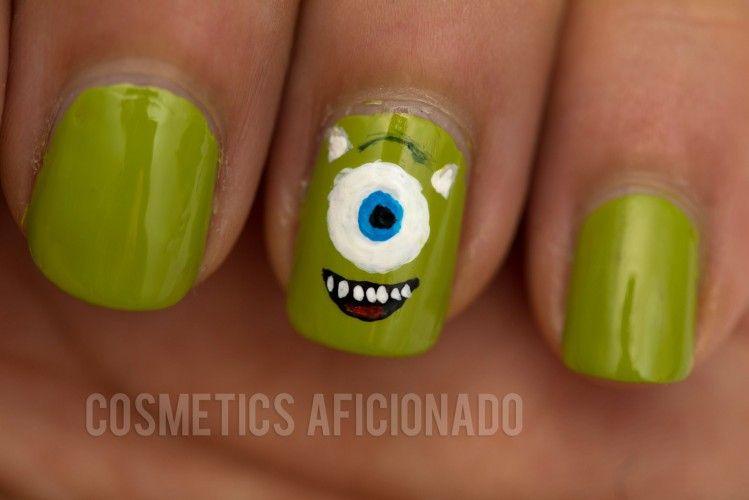 monsters university mike wazowski nail art | Monsters | Pinterest ...