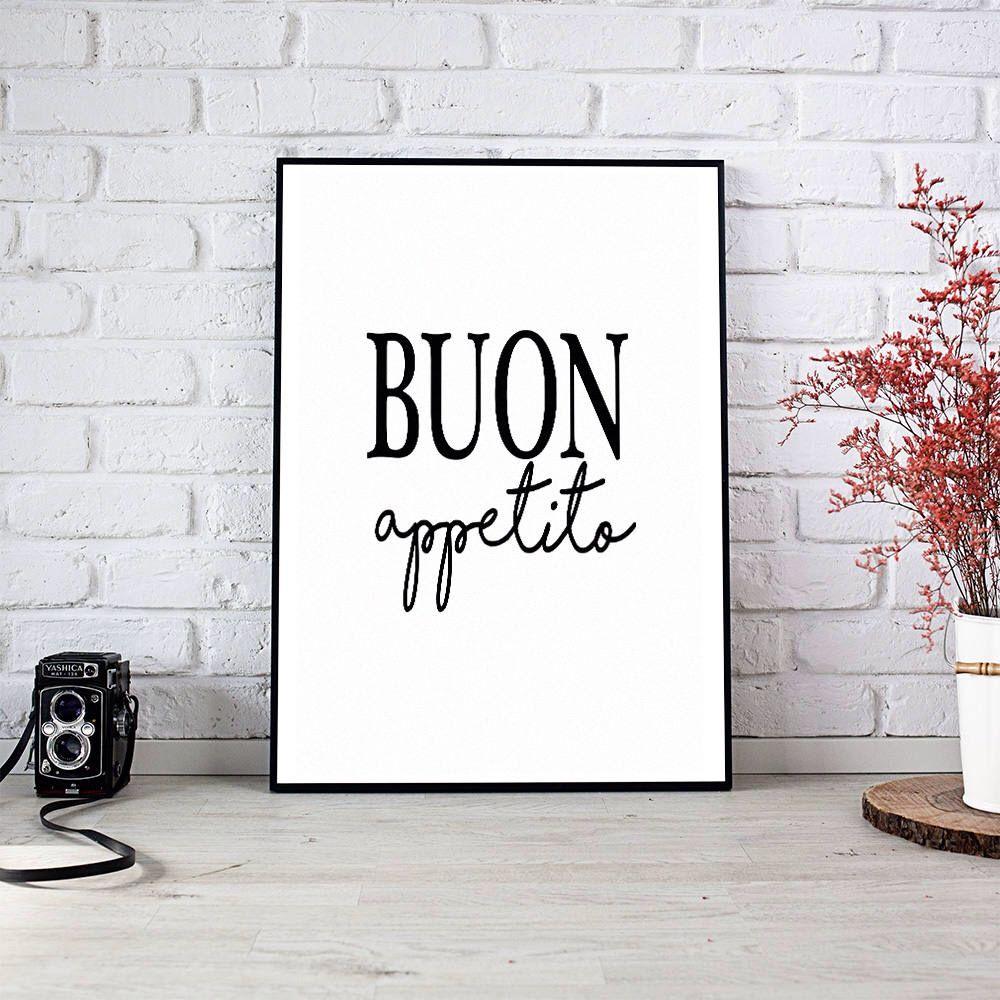 Buon appetito kitchennew homedecorhome decortrendingart prints